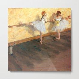 Edgar Degas - Dancers Practicing at the Barre (new color editing) Metal Print
