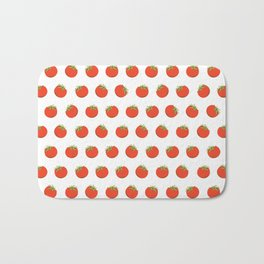 Sweet Red Tomato Picture Pattern Bath Mat