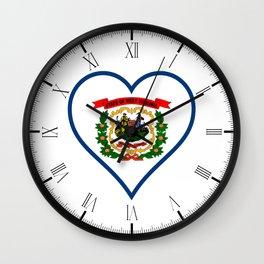 Love West Virginia Wall Clock