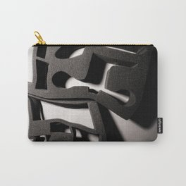 Shadow of Foam Abstract Two in Black and White Carry-All Pouch