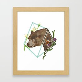 Monarch the California Grizzly Bear Framed Art Print