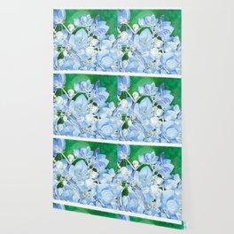 Watercolor Hydrangea Blossoms Wallpaper