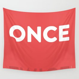 Once Bitten, Twice Shy - Lobster Pink Wall Tapestry