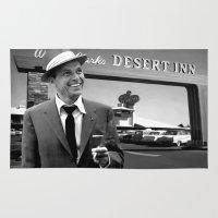 frank sinatra Area & Throw Rugs featuring Frank Sinatra in Las Vegas by Gabriel T Toro
