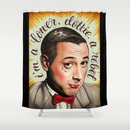 Loner Rebel Shower Curtain