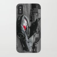 sports iPhone & iPod Cases featuring Sports car by john nicholson