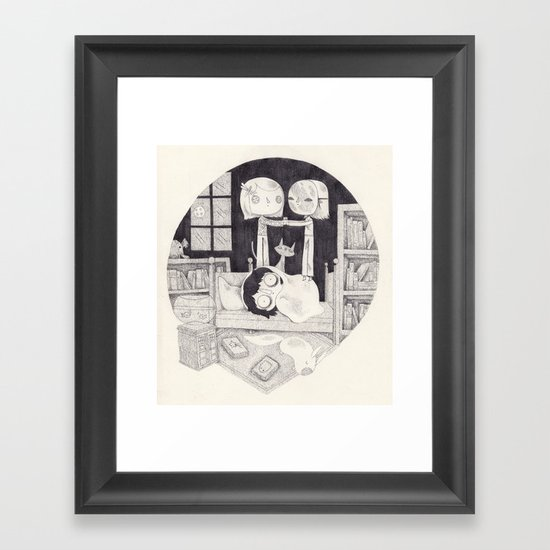 neil gaiman Framed Art Print