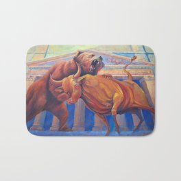 Bear vs Bull Bath Mat