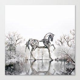 Snowy Horse Canvas Print
