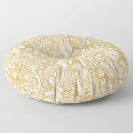 just chickens gold white Floor Pillow