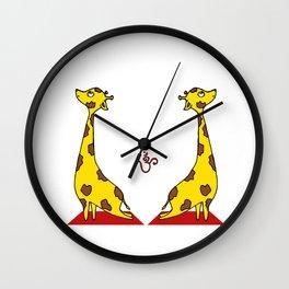 Giraffe Practicing Yoga - OM Wall Clock