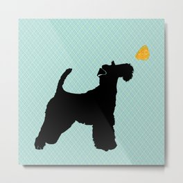 Fox Terrier Art Metal Print
