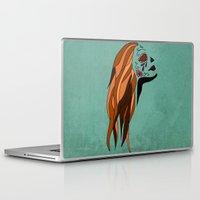 dia de los muertos Laptop & iPad Skins featuring Dia De Los Muertos by Caitlin Victoria Parker