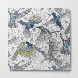 hum sun honey birds basalt Metal Print