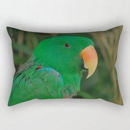 Green Eclectus Parrot Rectangular Pillow