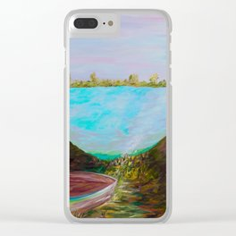 A Boat and a Seamless Sky Clear iPhone Case