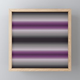 Textured Ace Stripes Framed Mini Art Print