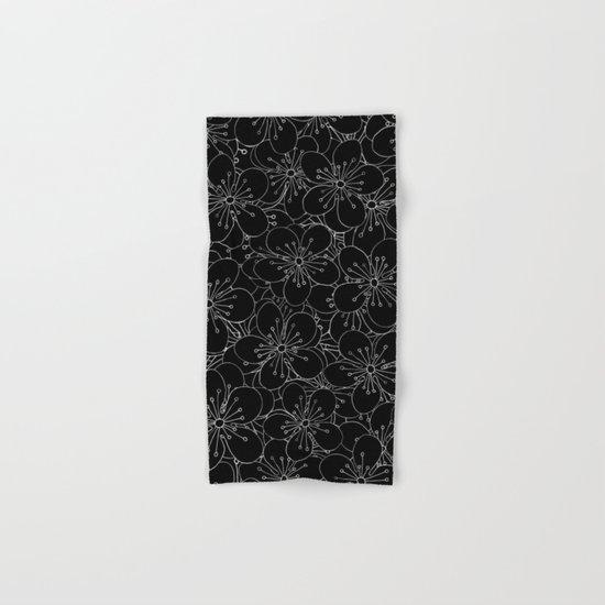 Cherry Blossom Black on White - In Memory of Mackenzie Hand & Bath Towel