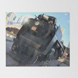 The Black Train Throw Blanket