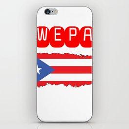 WEPA Puerto Rican Flag Gift for Men & Women iPhone Skin