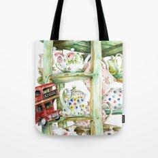 Alice's Teapots Tote Bag