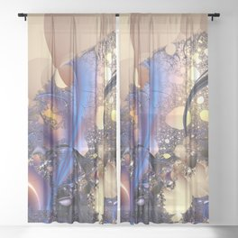 Inspiration from the nature Sheer Curtain