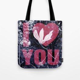 I Love You Floral Tote Bag
