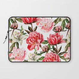 Peonies and Lilies - flower pattern no 1 Laptop Sleeve