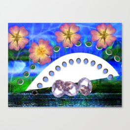 Flowers and Diamonds Canvas Print