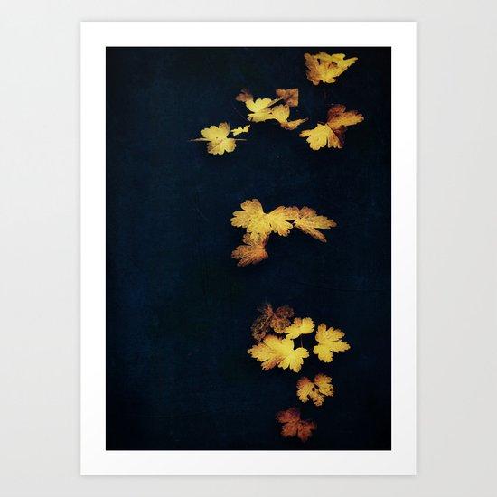 Velvet Leaves Art Print