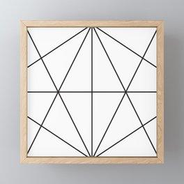 Facet Black Framed Mini Art Print
