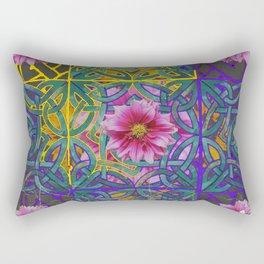 LILAC PURPLE YELLOW CELTIC PINK FLORAL ART PATTERN Rectangular Pillow