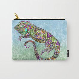 Electric Iguana Carry-All Pouch