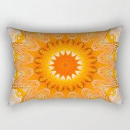 Sunny Mandala Design Rectangular Pillow
