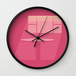 pink noon Wall Clock