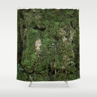 moss Shower Curtains featuring moss by Gabe Brison