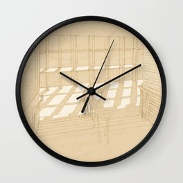 Light and Lines Wall Clock