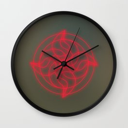 Root chakra energy healing mandala Wall Clock