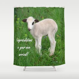 Congratulations On Your New Arrival Shower Curtain