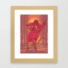 Lovely Dark Creatures series - Cadent Framed Art Print