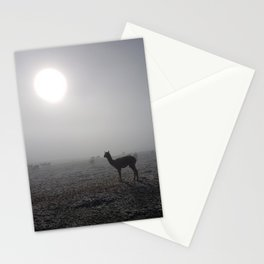 Llama in the mountains of Peru Stationery Cards