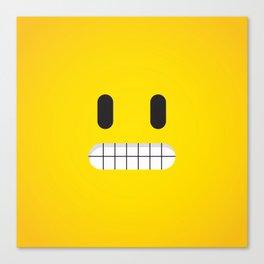 Grin emoji face Canvas Print
