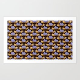 Moths On Ultra Violet Purple Art Print