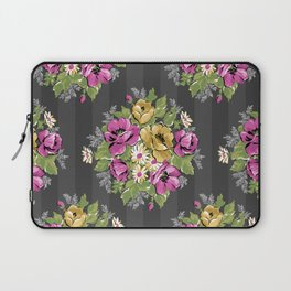 Floral Bouquet on Striped Background Laptop Sleeve
