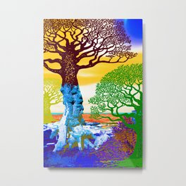 If A Tree Falls In Sicily Color 2 Metal Print
