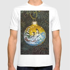 Christmas ball and Christmas tree White Mens Fitted Tee MEDIUM