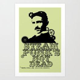 Nikola Tesla was a punk Art Print