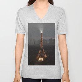 Paris - Eiffel Tower Unisex V-Neck