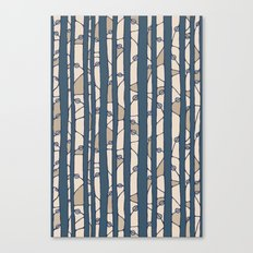Into The Woods blue cream Canvas Print