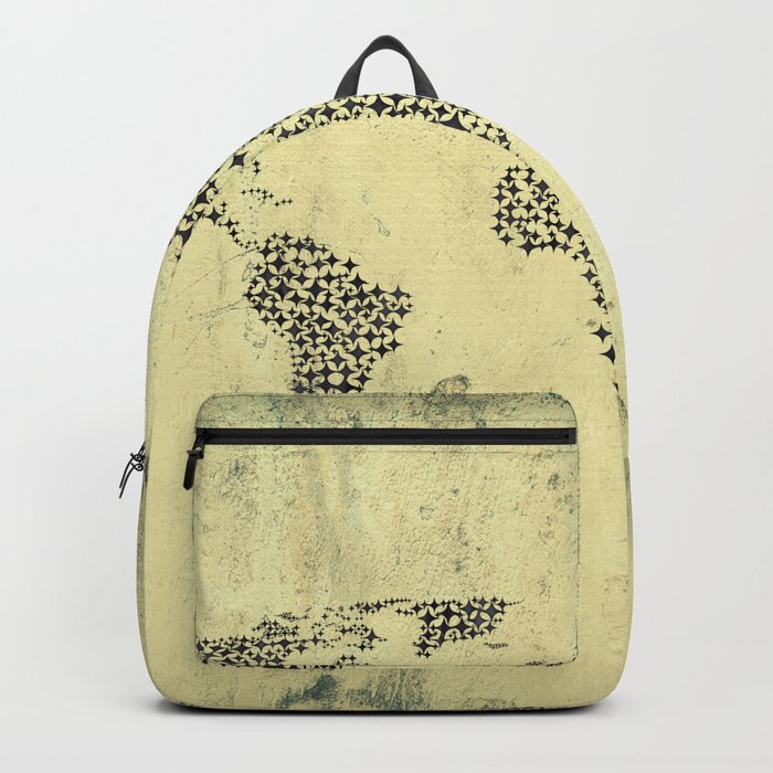 Black Star World Map Backpack